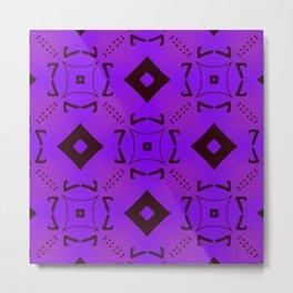 Vivid Purple on Black Diamonds Metal Print