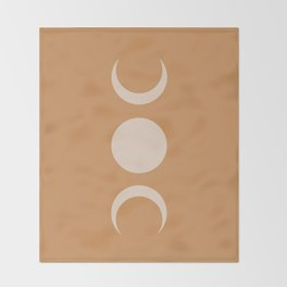 Moon Minimalism - Desert Sand Throw Blanket