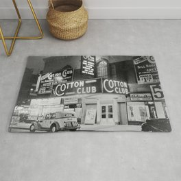 African American Harlem Renaissance Cotton Club Jazz Age Photograph Rug