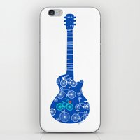 rock n roll iPhone & iPod Skins featuring rock 'n roll by Julia Minasian