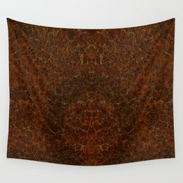 Azteca II Warm Browns & Golds Wall Tapestry