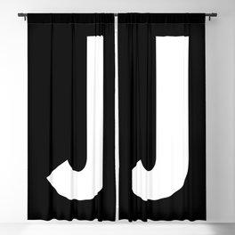 Letter J (White & Black) Blackout Curtain