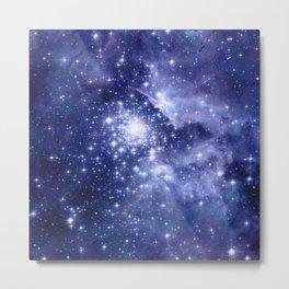 Cobalt Dreams, Universe Stars Space Nebula Metal Print