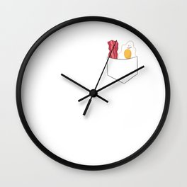 Funny Egg And Bacon Breakfast Bacon And Eggs Wall Clock