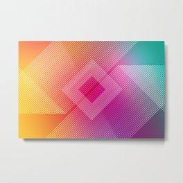 Colorful quare Metal Print