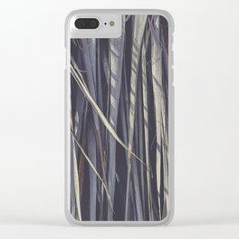Dry Palm Leaves Clear iPhone Case