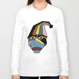 Woman in Hat Long Sleeve T-shirt
