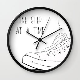 one step at a time Wall Clock