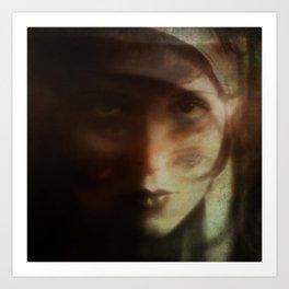 Clara, in Darkness Art Print