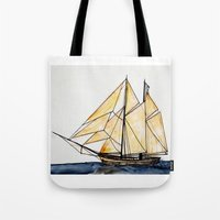 sail Tote Bags featuring sail by The Traveling Catburys