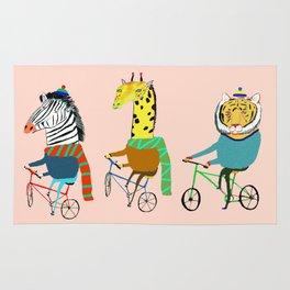 Biking Animals. Rug