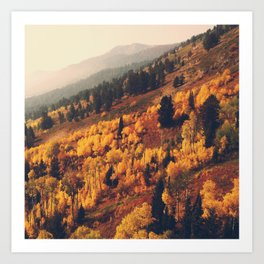 Autumn Hillside Art Print