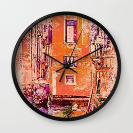 Orange Vintage Italy - Mid-Century Modern Wall Clock
