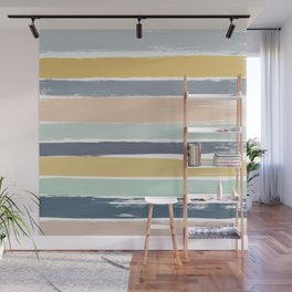 Pastel Stripes Wall Mural