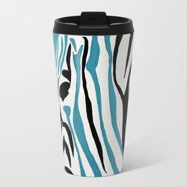 punk rock zebra Travel Mug