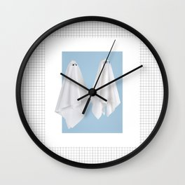 Couple of fake ghost Wall Clock
