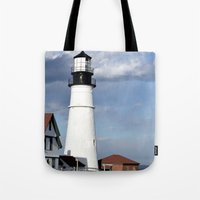 maine Tote Bags featuring Coastal Maine by Jessi Trafton