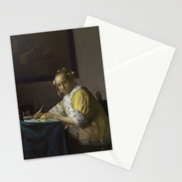 A Lady Writing by Johannes Vermeer, 1665 Stationery Cards