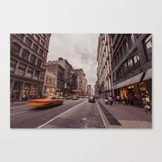 A Yellow Cab In SoHo Canvas Print