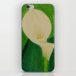 Cala Lily On Abstract Background iPhone Skin