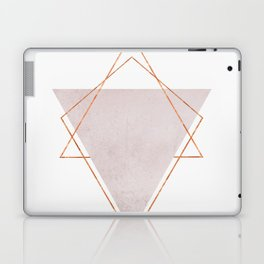 BLUSH COPPER ROSE GOLD GEOMETRIC SYNDROME II Laptop & iPad Skin