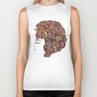 les mis Biker Tanks featuring Her Hair - Les Fleur Edition by Bianca Green