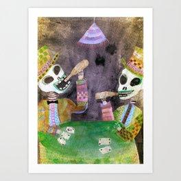 The Gamblers Art Print