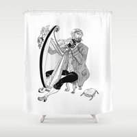 Ye Olde Harp Player Shower Curtain