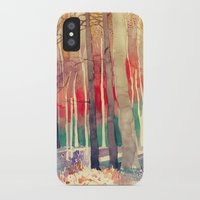 woods iPhone & iPod Cases featuring Woods by takmaj