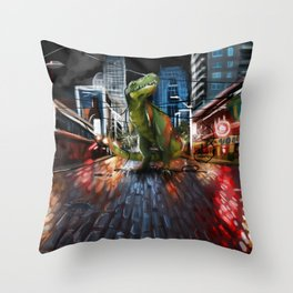 Nightlife in Seattle Throw Pillow