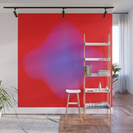blue makes more red Wall Mural