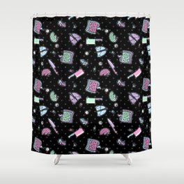 Sweet Yandere (Black) Shower Curtain