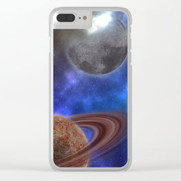 Space Expedition Clear iPhone Case