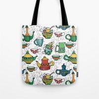 tea Tote Bags featuring Tea by Julia Badeeva