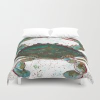 crab Duvet Covers featuring Crab by LEIGH ANNE BRADER