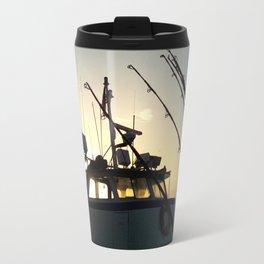 Fishing At Dawn Travel Mug
