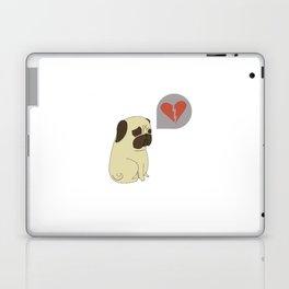 Broken hearted-pug Laptop & iPad Skin