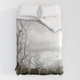 Desolate and Spooky Road in Australia Comforters