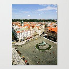 CITY CENTRE STATUE Canvas Print