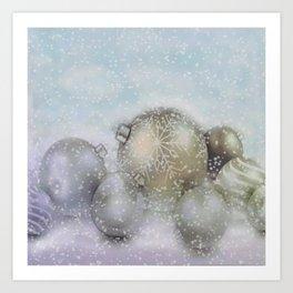 Romantic Christmas Art Print