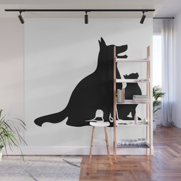 Dog and Cat BFFs Wall Mural