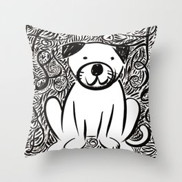 Pug Leo Throw Pillow