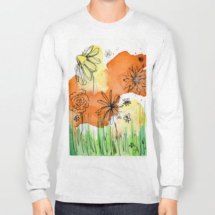 Flower Doodle 2 Long Sleeve T-shirt