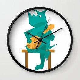 Rhino Plays Banjo Wall Clock