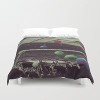 coldplay Duvet Covers featuring Coldplay at Wembley by Efua Boakye