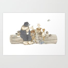 Welcome Winter Party Art Print