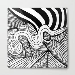 Zentangle #22 Metal Print