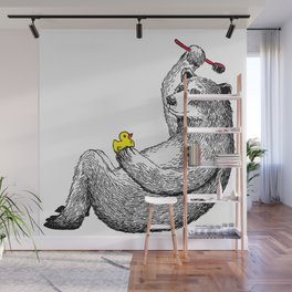Bear Shower Curtain Wall Mural