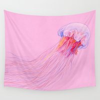jellyfish Wall Tapestries featuring Jellyfish by ShaMiLa
