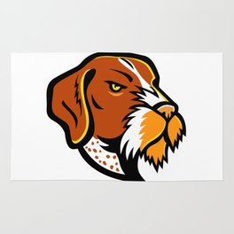 German Wirehaired Pointer Mascot Rug